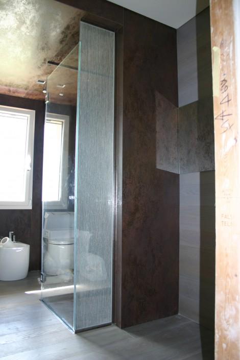 Box doccia con vetro tessuto San Marino