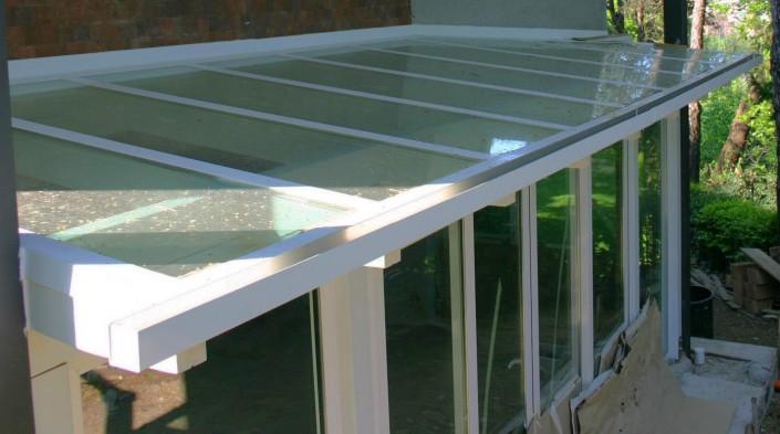 Copertura veranda con vetro isolante Covignano di Rimini