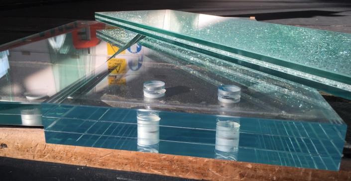 Gradini in vetro stratificato