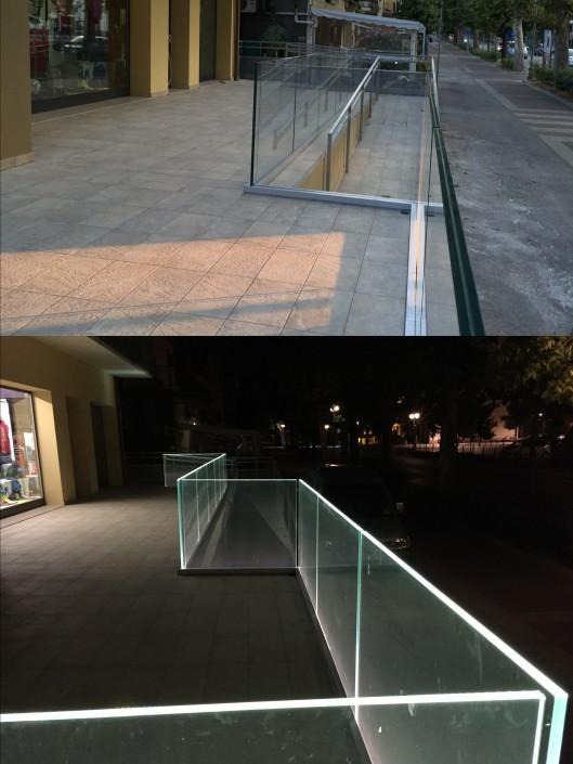 Parapetto negozio illuminato LED Villa Verucchio (Rimini)