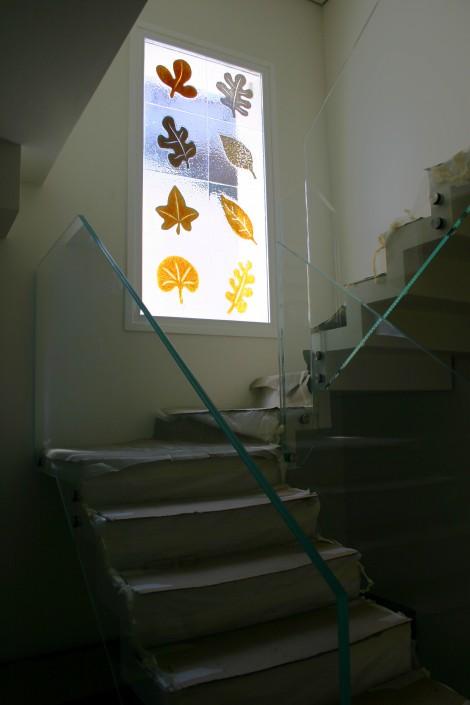 Parapetto scala in vetro extrachiaro