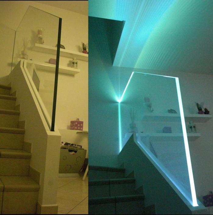 Parapetto scala LED Rimini