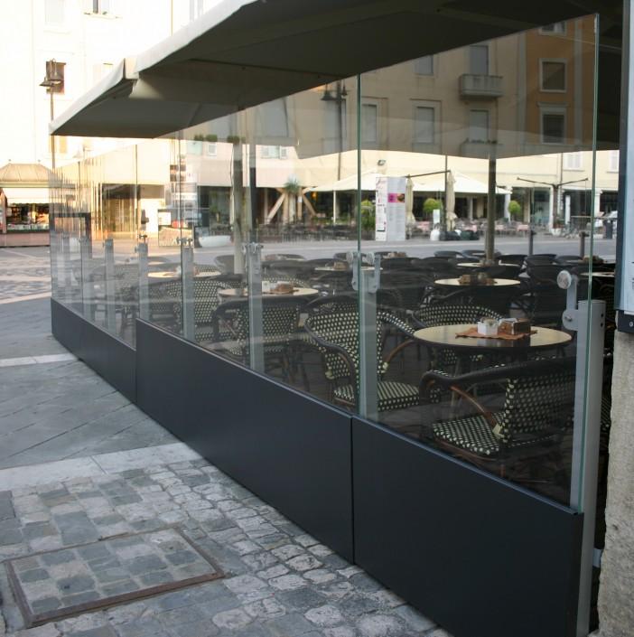 Pareti in vetro sistemi ad impacchettamento vetreria a - Caf porta rimini pesaro ...
