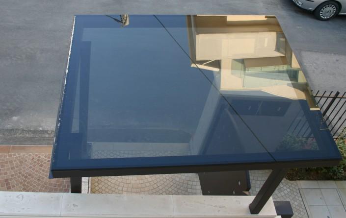 Pensilina in vetro di copertura Rimini