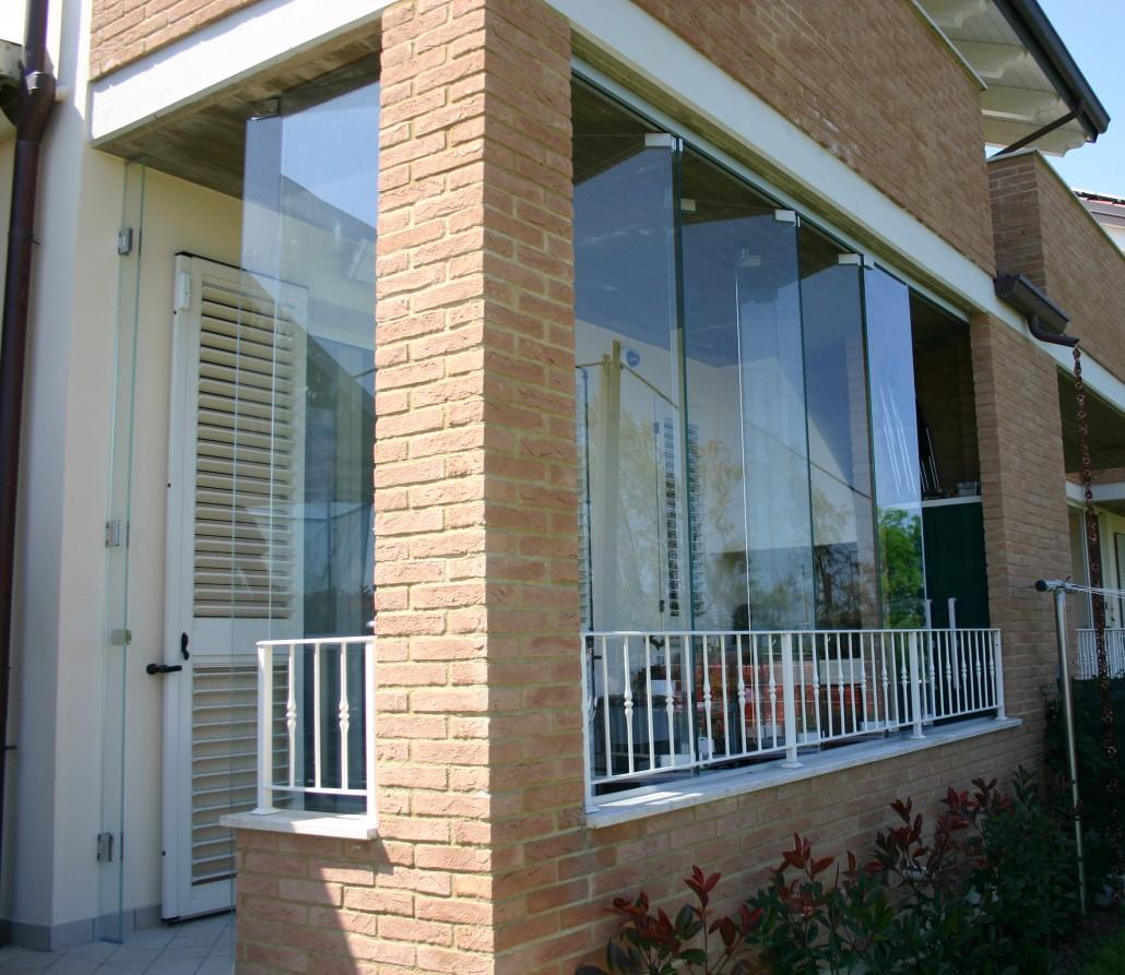 Latest pareti in vetro u sistemi ad with veranda vetro for Piani di veranda chiusa gratis