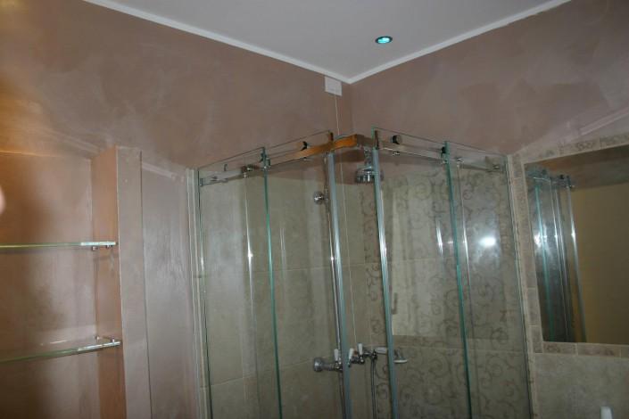 Box doccia ante scorrevoli ad angolo con ferramenta acciaio INOX