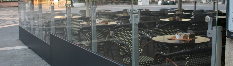 Paravento in vetro Rimini