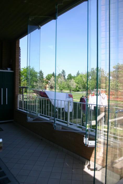 Sistema ad impacchettamento chiusura veranda Forlì - Cesena