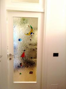 Vetro porta decorato Mirò Ravenna