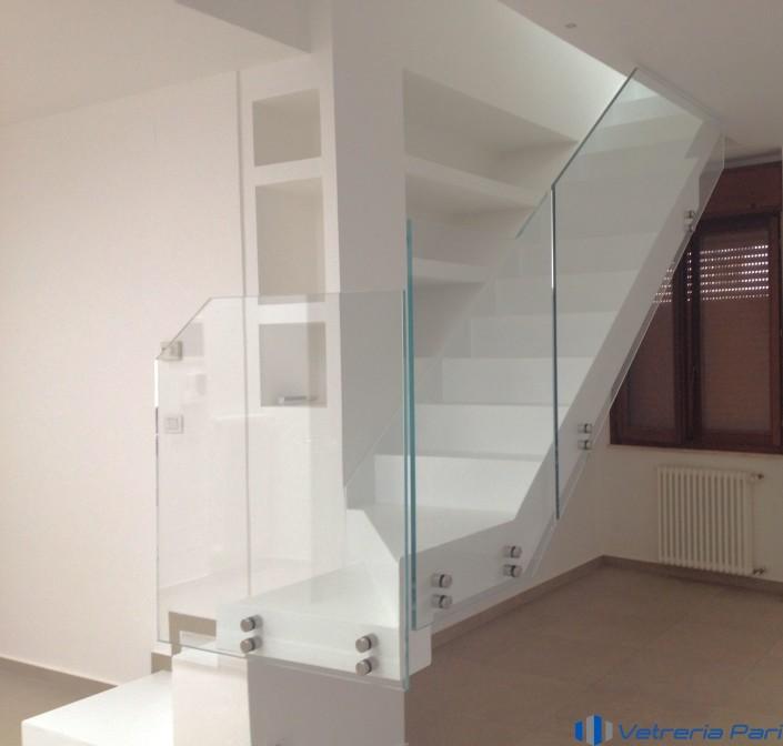 Parapetto scala in vetro extrachiaro Rimini
