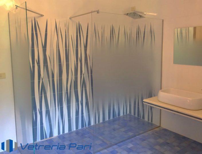 Box doccia in vetro con sabbiatura graduale Cesenatico